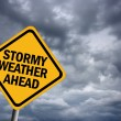 Royalty-Free Stock Photo: Stormy weather warning sign