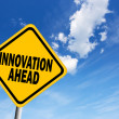 Innovation ahead sign — Stock Photo