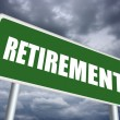 Retirement sign — Stock Photo