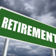 Foto Stock: Retirement sign