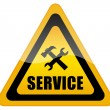 Service support sign — Stockfoto