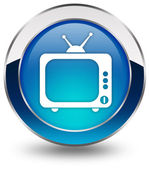Tv icon — Stock Photo