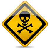 Danger skull sign — Stock Photo