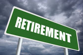Retirement sign — Foto Stock
