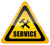 Service support sign — Foto Stock