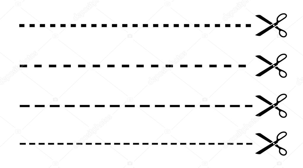 clip art dotted line with scissors - photo #37