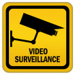 Video surveillance sign — 图库照片