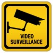 Video surveillance sign — Stok fotoğraf