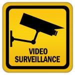 Video surveillance sign — Stock Photo #9555410