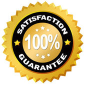 Satisfaction gurantee label — Stock Photo