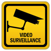 Video surveillance sign — Stockfoto