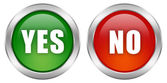 Yes no buttons — Stock Photo