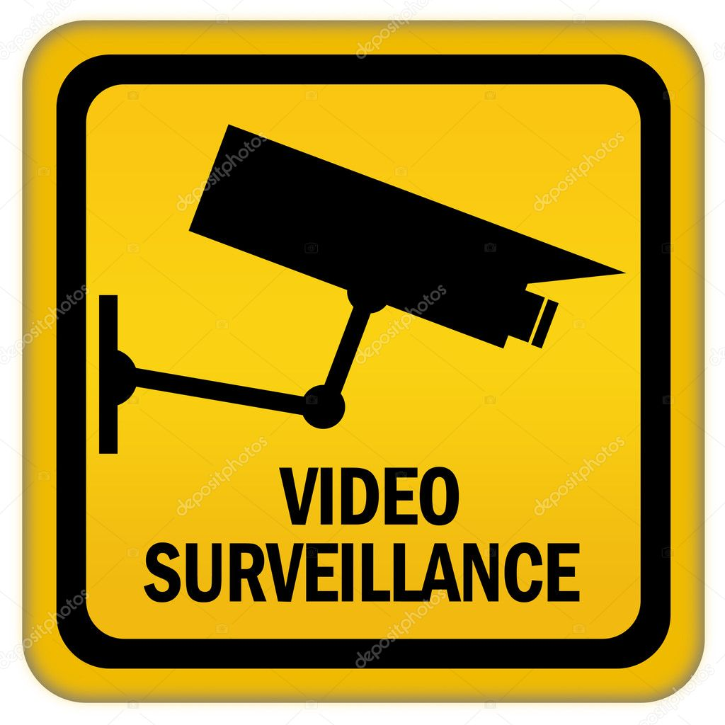 video surveillance sign stock photo arcady 9555410. Black Bedroom Furniture Sets. Home Design Ideas