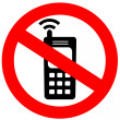 No cell phone sign — Stock Photo #9653105