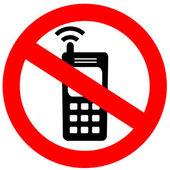 Nessun segno di cellulare — Foto Stock