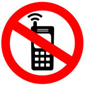 No cell phone sign — Foto Stock