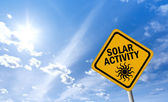 Solar activity sign — Stock Photo
