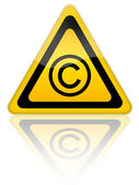 Copyrigth icon — Stock Photo
