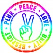 Plur hippy symbol - Stock Photo