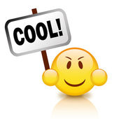 Cool emoticon — Stock Photo