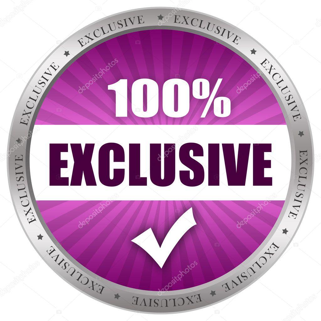 Exclusive Icon Exclusive icon illustration