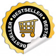 Foto Stock: Bestseller sticker
