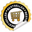 Bestseller sticker — Stockfoto