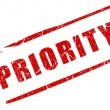 Priority stamp — Stock Photo