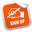 Stock Photo: Sign up icon