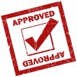 Royalty-Free Stock Photo: Approved stamp