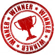 Winner stamp - Foto Stock