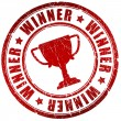 Winner stamp — Stock Photo
