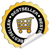 Bestseller sticker — Stock Photo