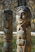Wooden sculptures — Stock Photo