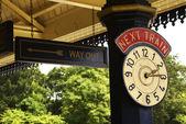 Reloj de la estación de tren — Foto de Stock