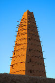 Mud mosque minaret in Agadez — Stock Photo