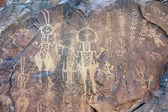 Ancient rock art in Niger with writing — Stock Photo