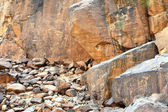Ancient rock art in Niger — Stock Photo