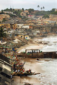 Vertical of Cape Coast foreshore — Stock Photo