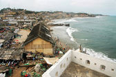 Cape Coast foreshore and houses #2 — Stock Photo