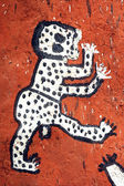 ドゴン族の建物上のアートワークのクローズ アップ — ストック写真