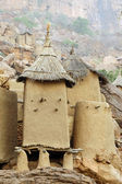 Close up of traditional Dogon village — Stock Photo