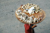 Crab meat street seller — Stock Photo