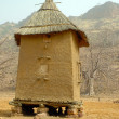 Stock Photo: Vertical view of Dogon granary