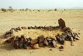 öken moské nära air berg i niger — Stockfoto