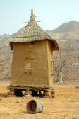 Vertical view of a Dogon granary — Stock Photo