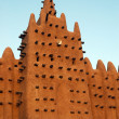 Vertical of minaret on Djenne mosque — Lizenzfreies Foto