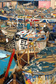 Fishing boats in Elmina harbour — Stock Photo
