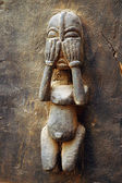 Traditional Dogon carved figure on a door #2 — Stock Photo