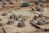 Cabanas de palha tradicionais em hombori — Foto Stock